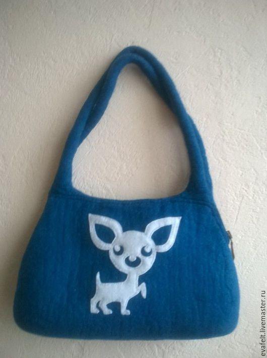 Женские сумки ручной работы. Ярмарка Мастеров - ручная работа. Купить сумка для чихуахуа. Handmade. Тёмно-бирюзовый, собака