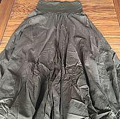 Одежда ручной работы. Ярмарка Мастеров - ручная работа Юбка хлопковая ярусная на резинке длинная в пол с трикотажным поясом. Handmade.