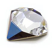 Tilted Chaton 18 мм Bermuda Metallic Blue Кристаллы Сваровски