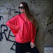 Одежда handmade. Livemaster - original item Bright cotton tunic blouse - TP0605TR. Handmade.