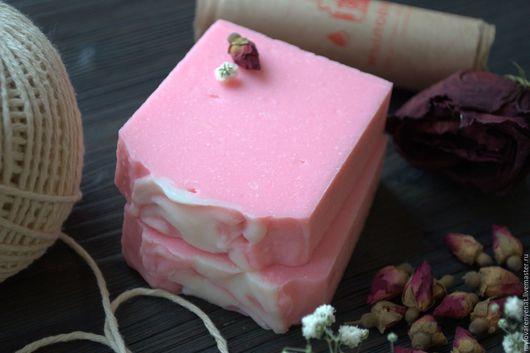 """Мыло ручной работы. Ярмарка Мастеров - ручная работа. Купить Мыло """"Розовая Роза"""". Handmade. Розовый, мыло в подарок"""