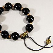 Фен-шуй и эзотерика handmade. Livemaster - original item Earthy prayer beads black agate natural.. Handmade.