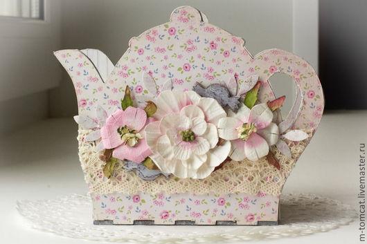 """Конфетницы, сахарницы ручной работы. Ярмарка Мастеров - ручная работа. Купить Шкатулка """"Чаепитие"""". Handmade. Бледно-розовый, подарок девушке"""
