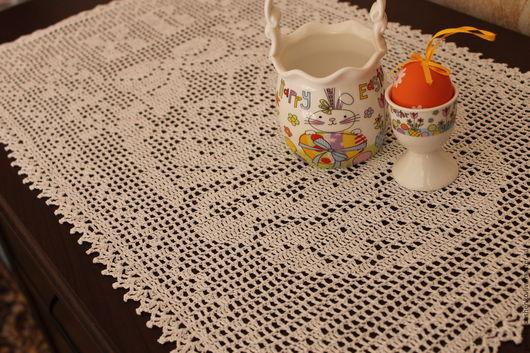 Текстиль, ковры ручной работы. Ярмарка Мастеров - ручная работа. Купить Салфетка № 188 (пасхальная). Handmade. Белый