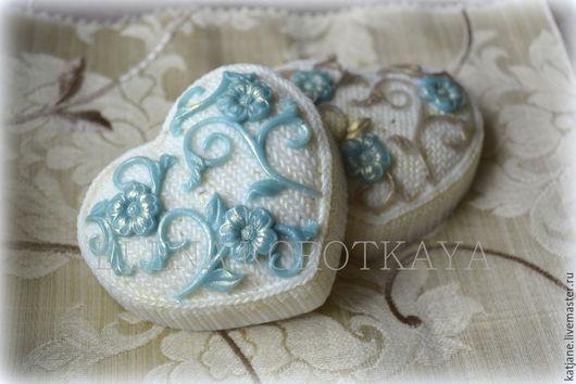 """Мыло ручной работы. Ярмарка Мастеров - ручная работа. Купить """"Вязаное сердце"""" Мыло ручной работы. Handmade. Разноцветный, цветы"""
