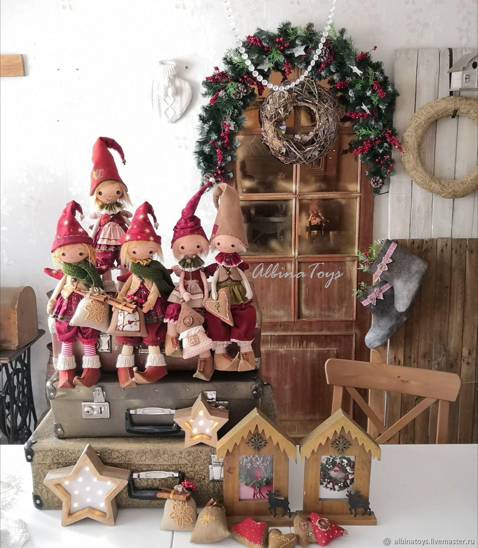 Рождественский эльф. Новогодний гном.Christmas, Чердачная кукла, Казань,  Фото №1