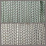 Материалы для творчества handmade. Livemaster - original item 50 cm Cord leather braided blue, white 3 mm (art. 2768). Handmade.