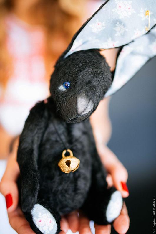 Мишки Тедди ручной работы. Ярмарка Мастеров - ручная работа. Купить Зайка Берни в технике тедди. Handmade. Черный, зайка