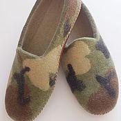 Обувь ручной работы handmade. Livemaster - original item Felted Slippers for men. Handmade.