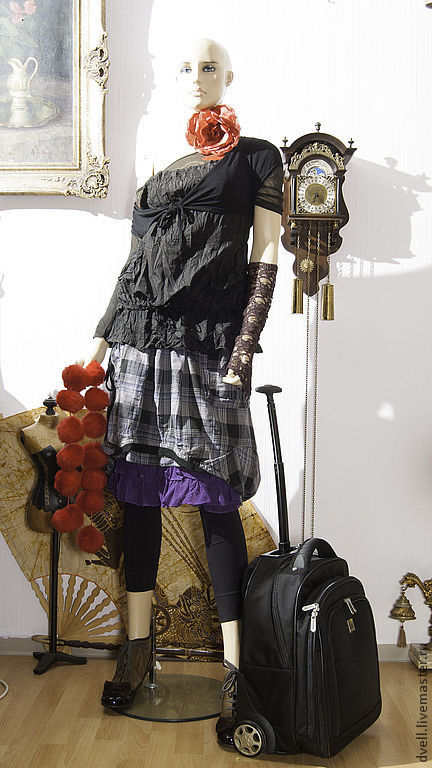 Юбки ручной работы. Ярмарка Мастеров - ручная работа. Купить Топ крэш и  тренд сезона клетка- юбка  урбан 50 размер. Handmade.
