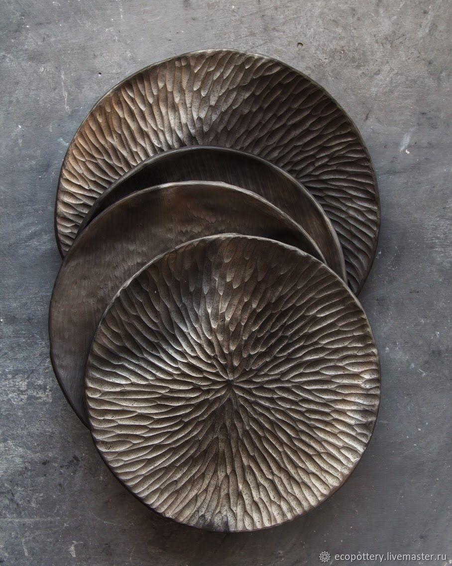 Керамическая тарелка резная, Тарелки, Москва,  Фото №1