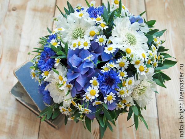 Свадебный букет невесты из полевых цветов 27
