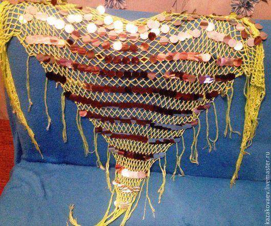 Пояса, ремни ручной работы. Ярмарка Мастеров - ручная работа. Купить Набедренный платок для танцев. Handmade. Комбинированный, паетки