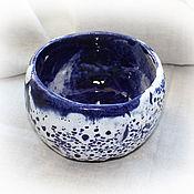 """Посуда ручной работы. Ярмарка Мастеров - ручная работа Керамическая чаша """"Синяя зимняя ночь"""". Handmade."""