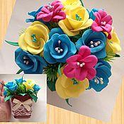 Цветы и флористика handmade. Livemaster - original item Gift arrangement in a pot. Handmade.