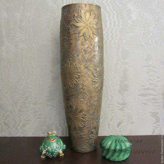 Вазы ручной работы. Ярмарка Мастеров - ручная работа. Купить Вазы ручной работы. Стеклянная ваза Золотые фантазии. Handmade.