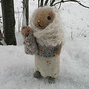 Куклы и игрушки ручной работы. Ярмарка Мастеров - ручная работа Мышка с мышонком. Handmade.