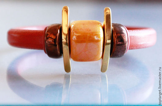 """Браслеты ручной работы. Ярмарка Мастеров - ручная работа. Купить Браслет регализ """"Летний закат"""". Handmade. Оранжевый, regaliz"""