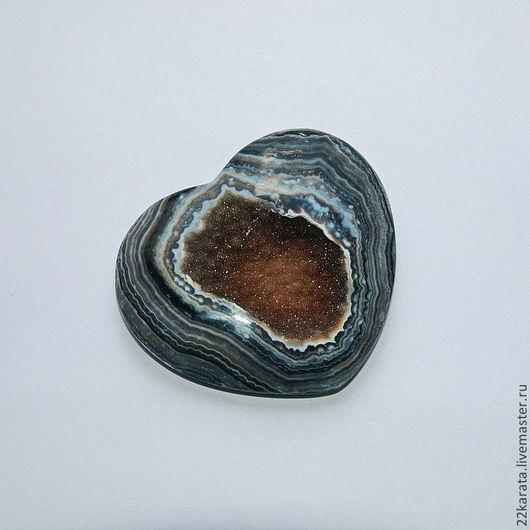 """Для украшений ручной работы. Ярмарка Мастеров - ручная работа. Купить Оникс черный, щетка """"Сердце"""" 45 х 40. Handmade."""
