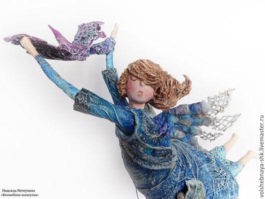 """Коллекционные куклы ручной работы. Ярмарка Мастеров - ручная работа. Купить Авторская кукла """"Вечерний ангел"""", интерьерная кукла, статуэтка. Handmade."""