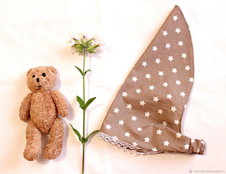 Косынка на резинке детская, коричневая, Ободки и повязки на голову, Котово,  Фото №1