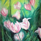 """Картины и панно ручной работы. Ярмарка Мастеров - ручная работа Картина """"2 тюльпана"""". Handmade."""