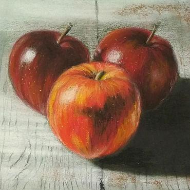 Картины и панно ручной работы. Ярмарка Мастеров - ручная работа Картины: Яблочное трио. Handmade.