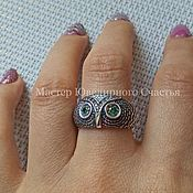 Украшения handmade. Livemaster - original item Women`s silver ring with cubic Zirconia