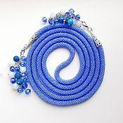 Украшения handmade. Livemaster - original item Lariat necklace knitted from beads