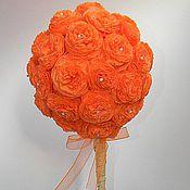 """Цветы и флористика ручной работы. Ярмарка Мастеров - ручная работа """"Оранжевое солнце"""". Handmade."""