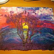 """Картины и панно ручной работы. Ярмарка Мастеров - ручная работа Картина из войлока """"Полет мечты"""". Handmade."""