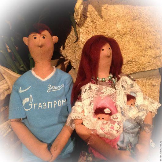 Куклы Тильды ручной работы. Ярмарка Мастеров - ручная работа. Купить Семья. Портретные куклы в стиле Тильда.. Handmade. Комбинированный