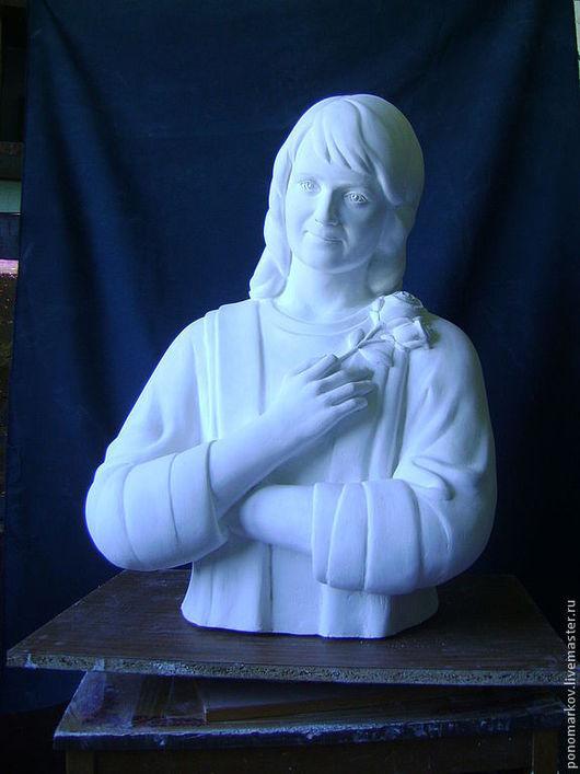 Статуэтки ручной работы. Ярмарка Мастеров - ручная работа. Купить скульптурный портрет на заказ. Handmade. Белый, металл, металл, латунь