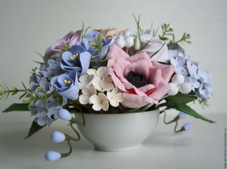 Букет Нежность-3. Цветы из полимерной глины ручной работы, Композиции, Москва, Фото №1