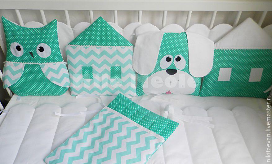 Сшить бортики подушки в кроватку мастер класс