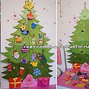 Куклы и игрушки ручной работы. Ярмарка Мастеров - ручная работа Новогодняя елочка из фетра. Handmade.