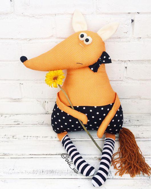 Игрушки животные, ручной работы. Ярмарка Мастеров - ручная работа. Купить Лис. Handmade. Лиса, лисица, textile toy