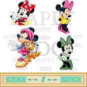 Материалы для творчества handmade. Livemaster - original item Termotransfer. Minnie. Termoprint. Pictures for fabric. Decal.. Handmade.