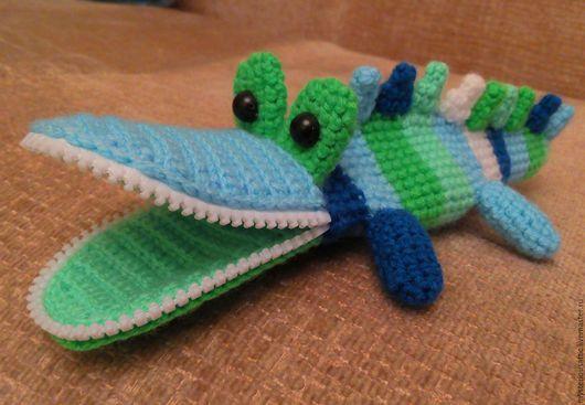 Игрушки животные, ручной работы. Ярмарка Мастеров - ручная работа. Купить Пенал для карандашей Крокодил. Handmade. Пенал, крокодильчик, акрил