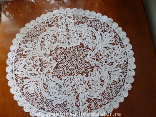 Текстиль, ковры ручной работы. Ярмарка Мастеров - ручная работа. Купить столешник кружевной. Handmade. Кружево на коклюшках, интерьер, нитки