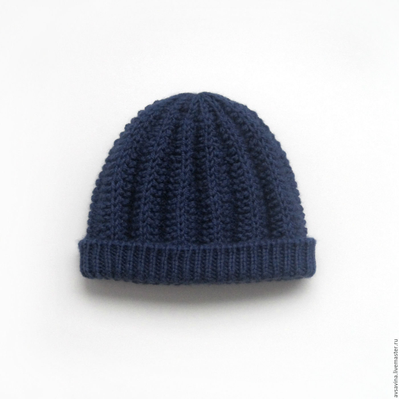 83f8572d00d Hats handmade. Livemaster - handmade. Buy Men s knitted hat with fleece  lining blue.