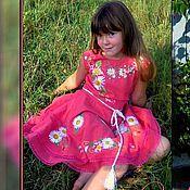 """Платья ручной работы. Ярмарка Мастеров - ручная работа Платье для девочки """"Ромашковый рай"""". Handmade."""