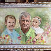 Картины и панно ручной работы. Ярмарка Мастеров - ручная работа Дедушкины цветочки. Handmade.