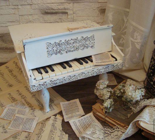 """Детская ручной работы. Ярмарка Мастеров - ручная работа. Купить Рояль """"Льется музыка..."""". Handmade. Белый, кукла, дерево"""
