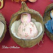 Куклы и игрушки ручной работы. Ярмарка Мастеров - ручная работа Малышка в кокосовой колыбельке. Handmade.