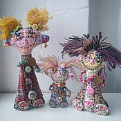 Куклы и игрушки ручной работы. Ярмарка Мастеров - ручная работа Очередь за счастьем по 3 копейки текстильные куклы. Handmade.
