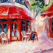 """Картины и панно ручной работы. Ярмарка Мастеров - ручная работа картина """"Уютное кафе"""". Handmade."""