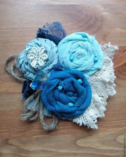"""Броши ручной работы. Ярмарка Мастеров - ручная работа. Купить Брошь """"Персидская синь"""". Handmade. Синий, брошь цветок"""