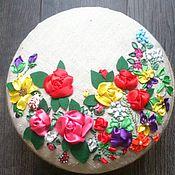 """Для дома и интерьера ручной работы. Ярмарка Мастеров - ручная работа шкатулка """"цветочная поляна"""". Handmade."""