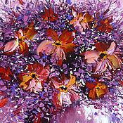 """Картины и панно ручной работы. Ярмарка Мастеров - ручная работа Картина Маслом """"Розовый букет"""". Handmade."""